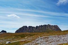 Ojämnt vaggaberg, Tasmanien Arkivbilder
