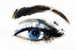 Ojo abstracto de la mujer Fondo de la manera Fotos de archivo libres de regalías