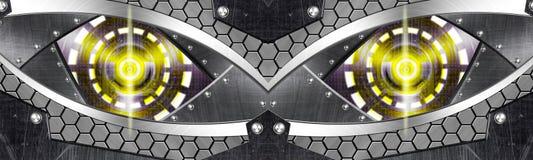 Ojo abstracto del robot Fotos de archivo libres de regalías