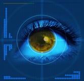 Ojo apuntado ilustración del vector