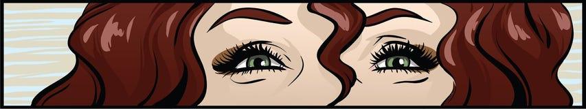 Ojo atractivo de las mujeres de los tebeos Imagenes de archivo