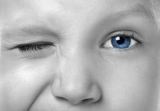 Ojo azul Fotos de archivo libres de regalías