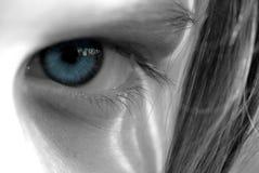 Ojo azul Fotografía de archivo