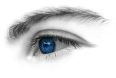 Ojo azul Imágenes de archivo libres de regalías