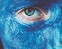 Ojo azul Foto de archivo