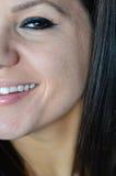 Ojo azul joven hermoso del ojo de la mujer? foto de archivo libre de regalías
