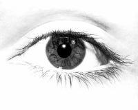 Ojo blanco y negro Imagenes de archivo