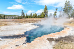 Ojo Caliente hot spring in Yellowstone National Park. The warmest hot spring in Yellowstone Royalty Free Stock Image