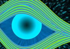 Ojo colorido Imagen de archivo libre de regalías