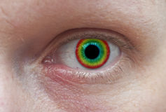 Ojo colorido Fotos de archivo