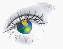 Ojo con el globo Imagenes de archivo