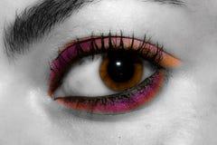 Ojo con maquillaje Imagen de archivo libre de regalías