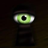 Ojo de la cerradura de la ojeada del monstruo Imágenes de archivo libres de regalías