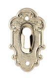 Ojo de la cerradura de oro aislado en blanco Fotos de archivo libres de regalías