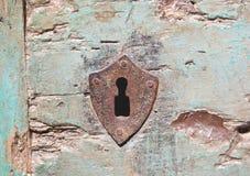 Ojo de la cerradura viejo aherrumbrado Foto de archivo