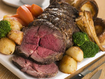 Ojo de la costilla de la carne asada de la carne de vaca británica Imagen de archivo