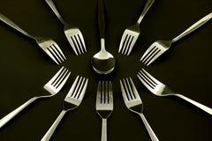 Ojo de la fork Imagenes de archivo