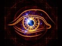 Ojo de la inteligencia artificial Imágenes de archivo libres de regalías