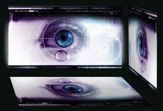 Ojo de la investigación de la tecnología Fotografía de archivo libre de regalías