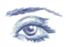 Ojo de la mujer stock de ilustración