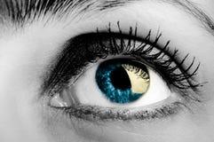 Ojo de la mujer Imágenes de archivo libres de regalías