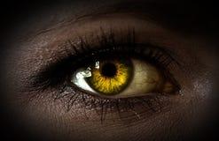 Ojo de la mujer del misterio fotos de archivo
