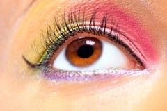 Ojo de la mujer joven con maquillaje fotografía de archivo libre de regalías