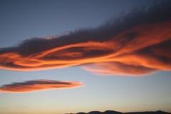 Ojo de la puesta del sol en las nubes Fotografía de archivo libre de regalías