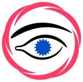Ojo de la rueda de engranaje Foto de archivo libre de regalías