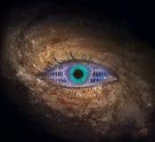 Ojo de la supernova con código binario fotos de archivo