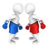 ojo de las miradas de los boxeadores 3d a observar Imagen de archivo