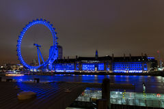 Ojo de Londres en la noche 2 fotografía de archivo libre de regalías