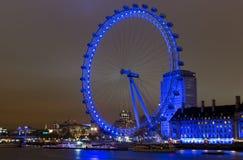 Ojo de Londres en la noche 1 Imágenes de archivo libres de regalías