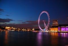 Ojo de Londres en la noche Fotografía de archivo