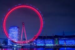 Ojo de Londres en la noche Imagen de archivo