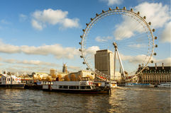 Ojo de Londres en Londres, Reino Unido Imagenes de archivo