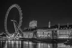 Ojo de Londres por noche foto de archivo libre de regalías