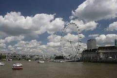 Ojo de Londres un puente del milenio Fotografía de archivo