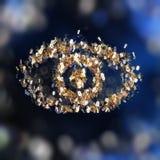 Ojo de oro abstracto Foto de archivo