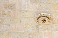 Ojo de Osiris Maltese en las puertas de La Valeta foto de archivo libre de regalías