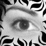 Ojo de semitono ilustración del vector