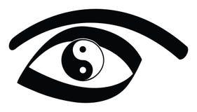 Ojo de Yin yan ilustración del vector