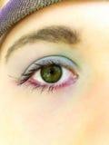Ojo del adolescente con maquillaje Imagen de archivo