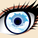 Ojo del cielo Imagen de archivo