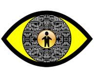 Ojo del espía de Digitaces Imagenes de archivo