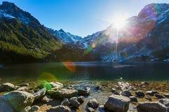 Ojo del lago sea Foto de archivo libre de regalías