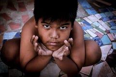 Ojo del mendigo del niño fotos de archivo