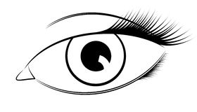 Ojo del vector stock de ilustración
