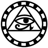 Ojo egipcio del icono del horus libre illustration