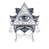 Ojo en Lotus Tattoo Imagen de archivo